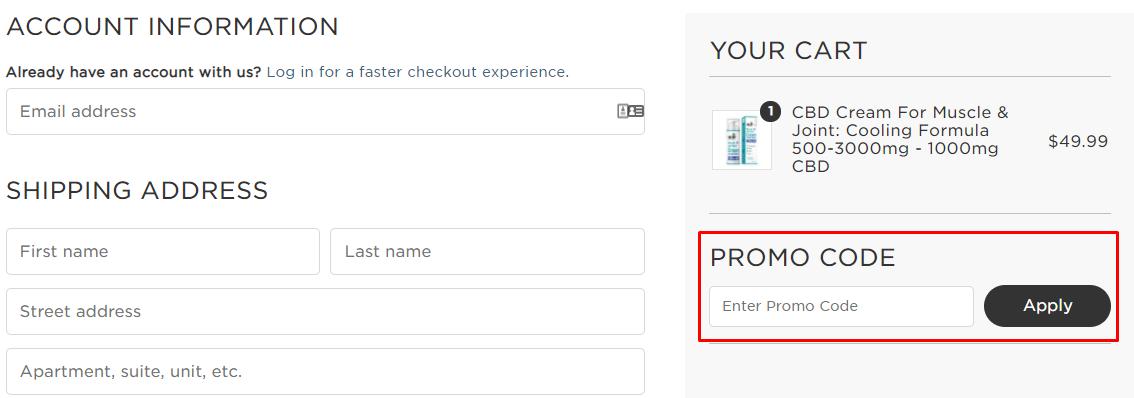 How do I use my CBDfx promo code?