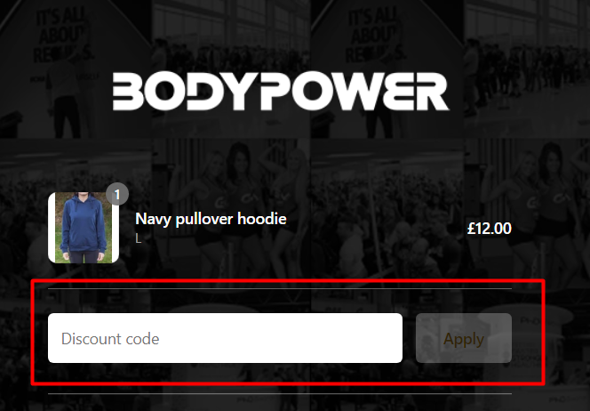 How do I use my Bodypower discount code?