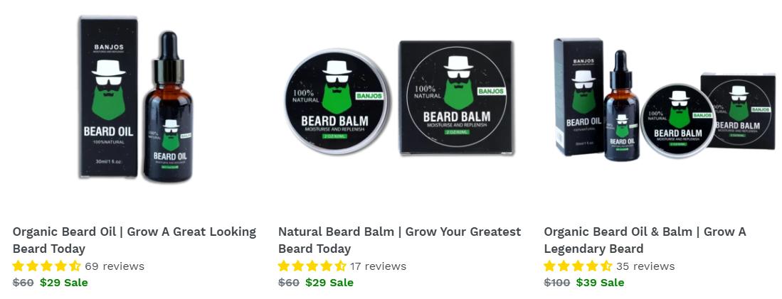 Banjos Beards Sales