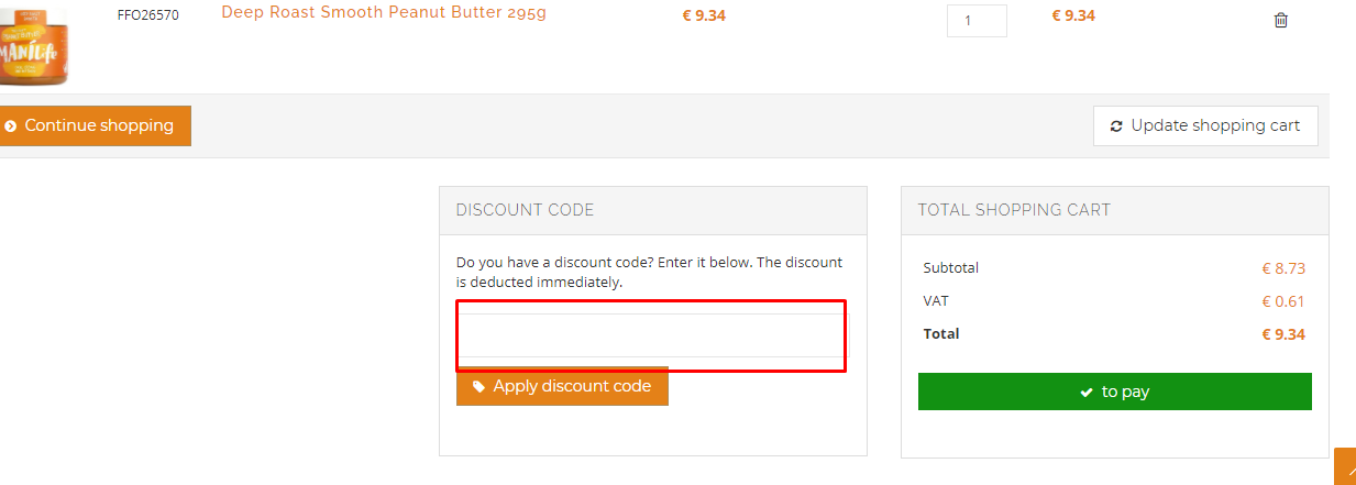 How do I use my FineFoods-Online discount code?