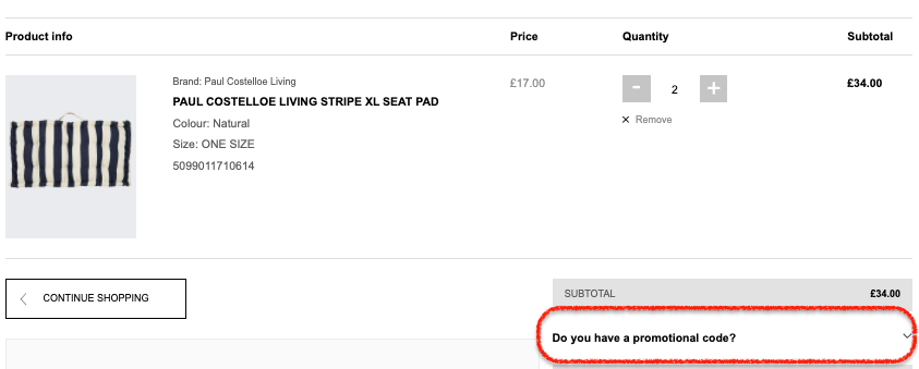 How do I use my Dunnes Stores promotional code?