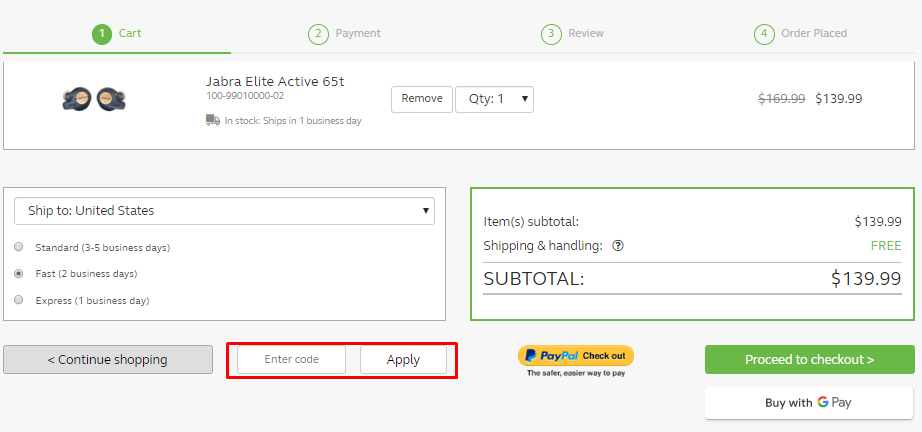 How do I use my Jabra discount code?