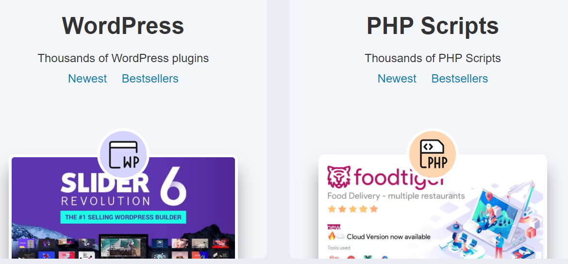About CodeCanyon Homepage