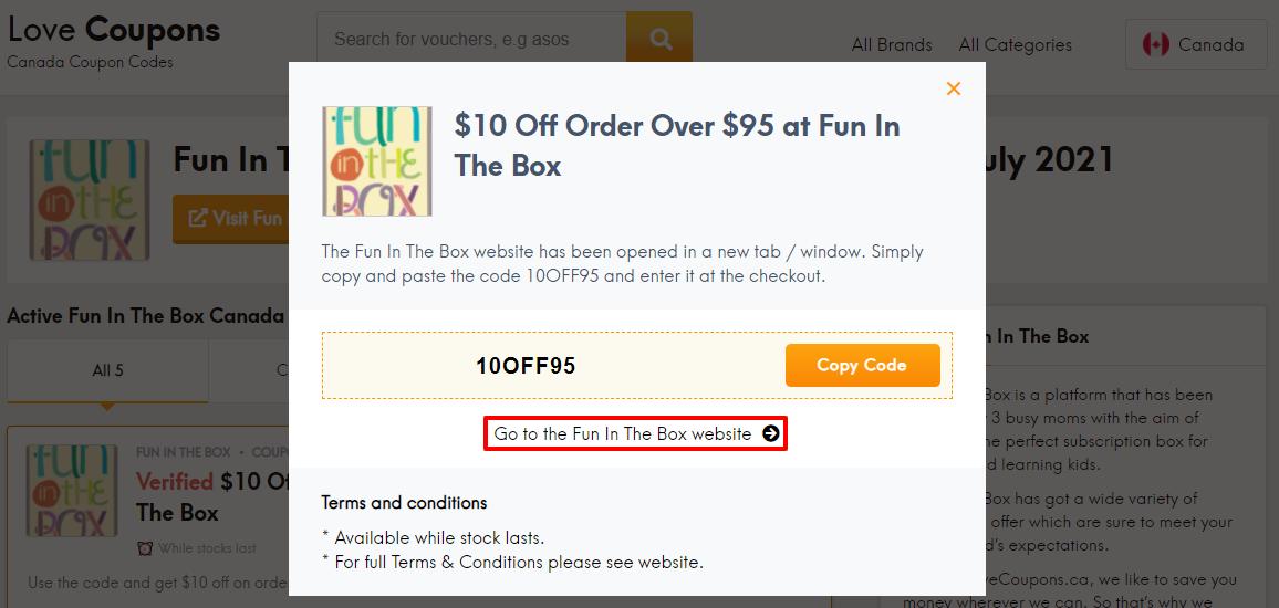 Fun In The Box Offer CA