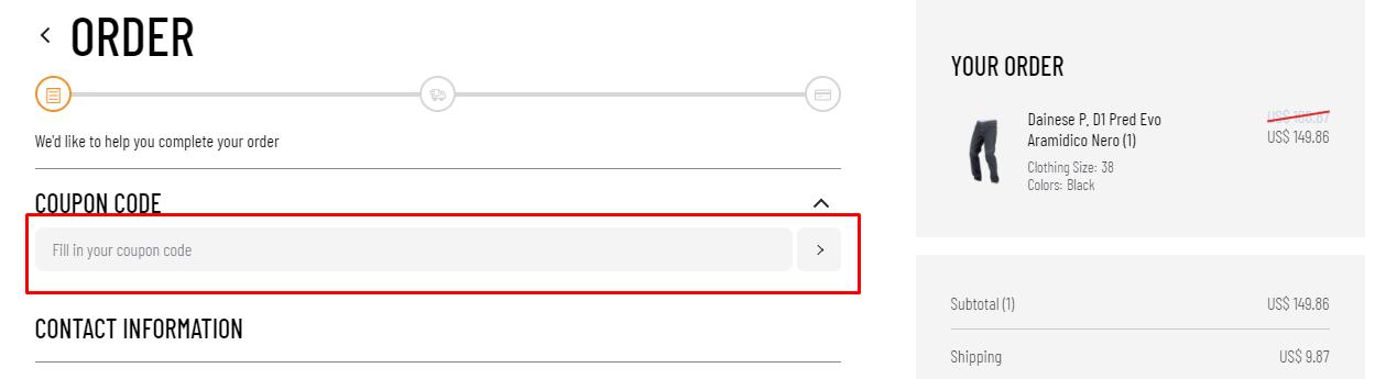 How do I use my ChromeBurner coupon code?
