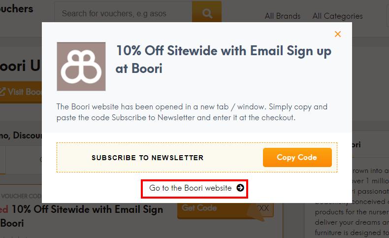 How do I use my Boori discount code?