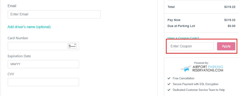 How do I use my AirportParking.com coupon code?