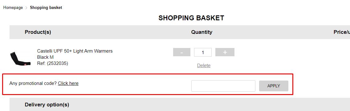 How do I use my Bikeinn promotional code?