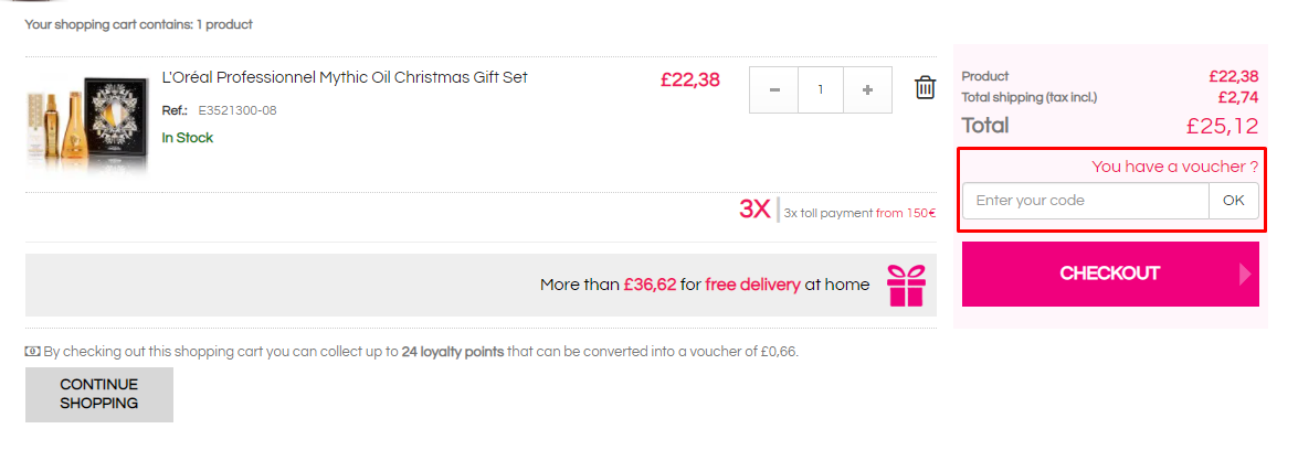 How do I use my Beauty Coiffure voucher code?