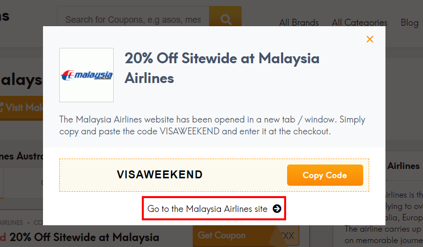 how to use Malaysia Airlines promo code?
