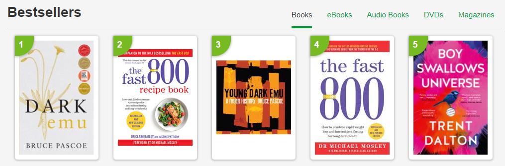 Booktopia Best Sellers