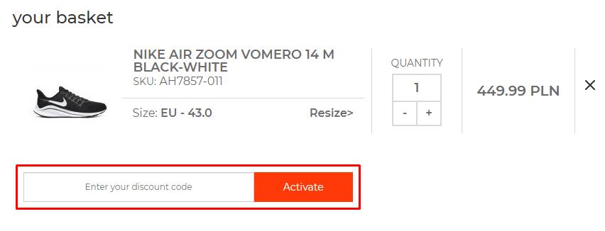 How do I use my Sklepbiegacza discount code?
