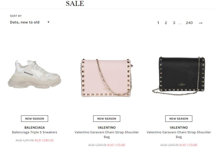 Cettire Sales