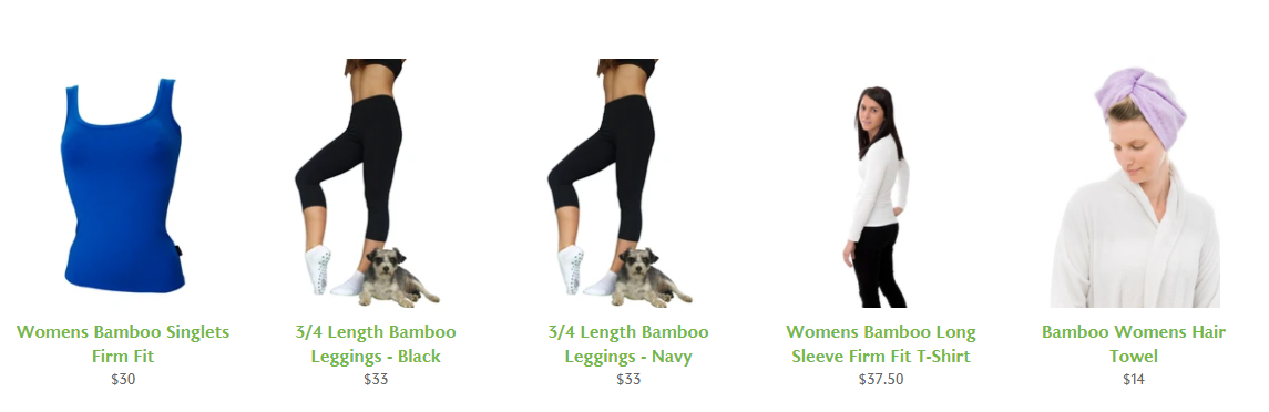 Buy Affordable Bamboo Clothing Online from Bamboo Bits
