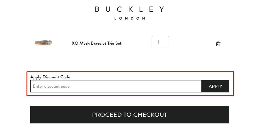 How do I use my Buckley London discount code?