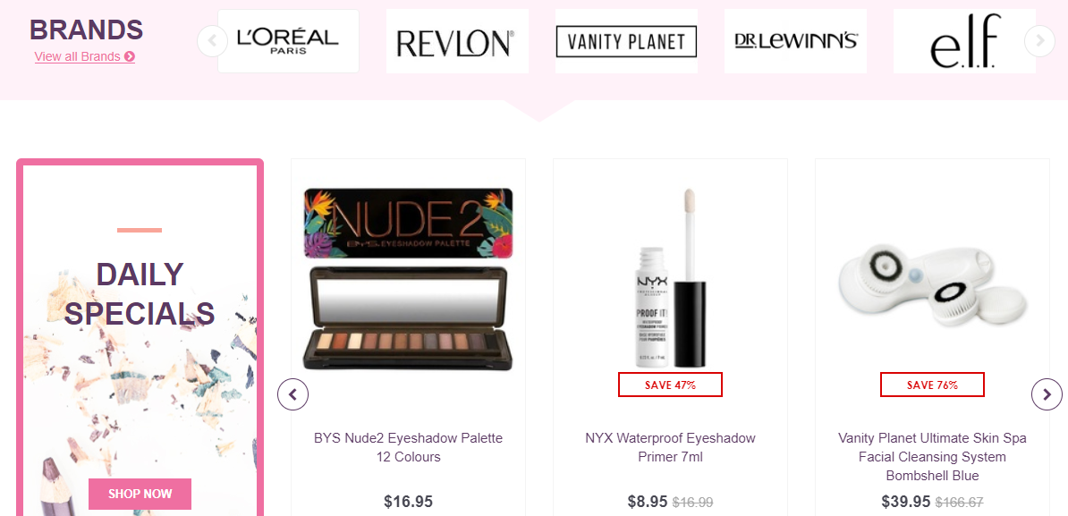 Cosmetic Capital Homepage