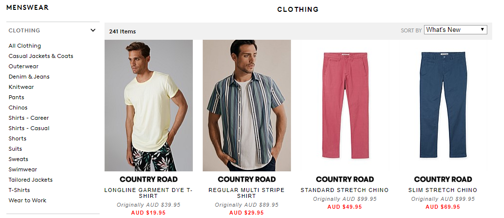 Country Road & Trenery Outlet Menswear