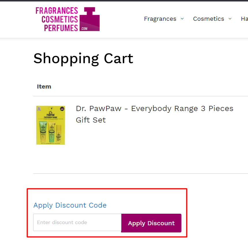 How do I use my FragrancesCosmeticsPerfumes discount code?