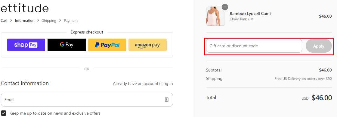 How do I use my Ettitude discount code?