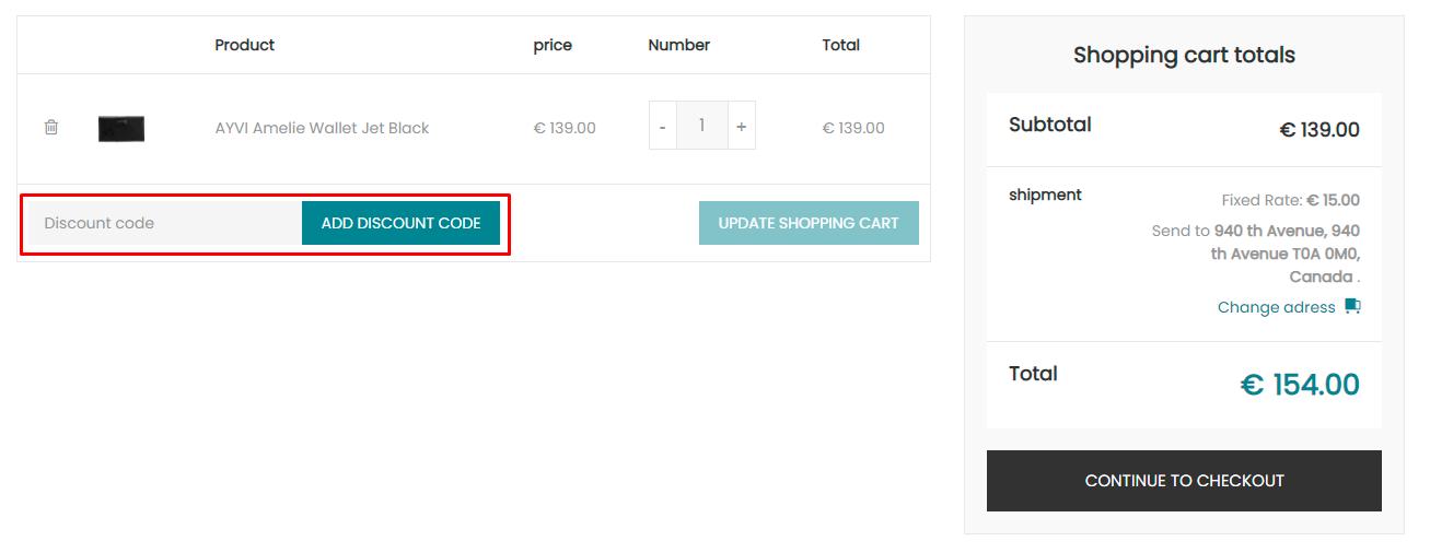 How do I use my AYVI discount code?
