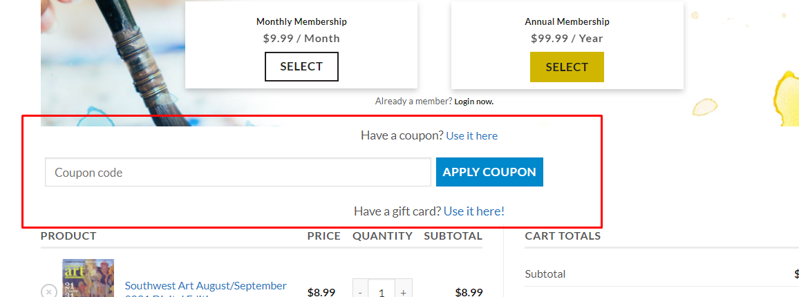 How do I use my Artistsnetwork coupon code?