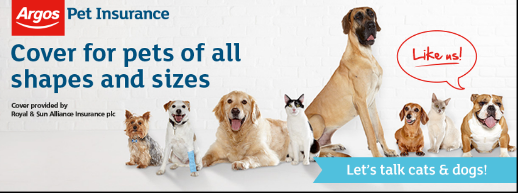 About Argos Pet Insurance homepage