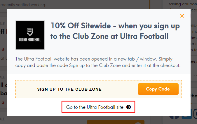 Go to Ultra Football site