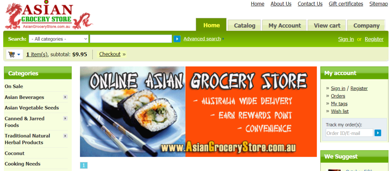 About Asian Grocery Store