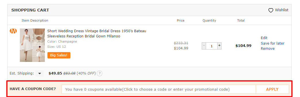 How do I use my Milanoo discount code?