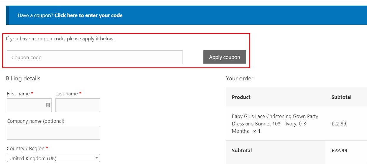 How do I use my Cinda Clothing coupon code?