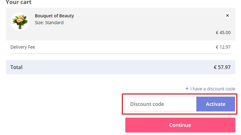 How do I use my Euroflorist discount code?