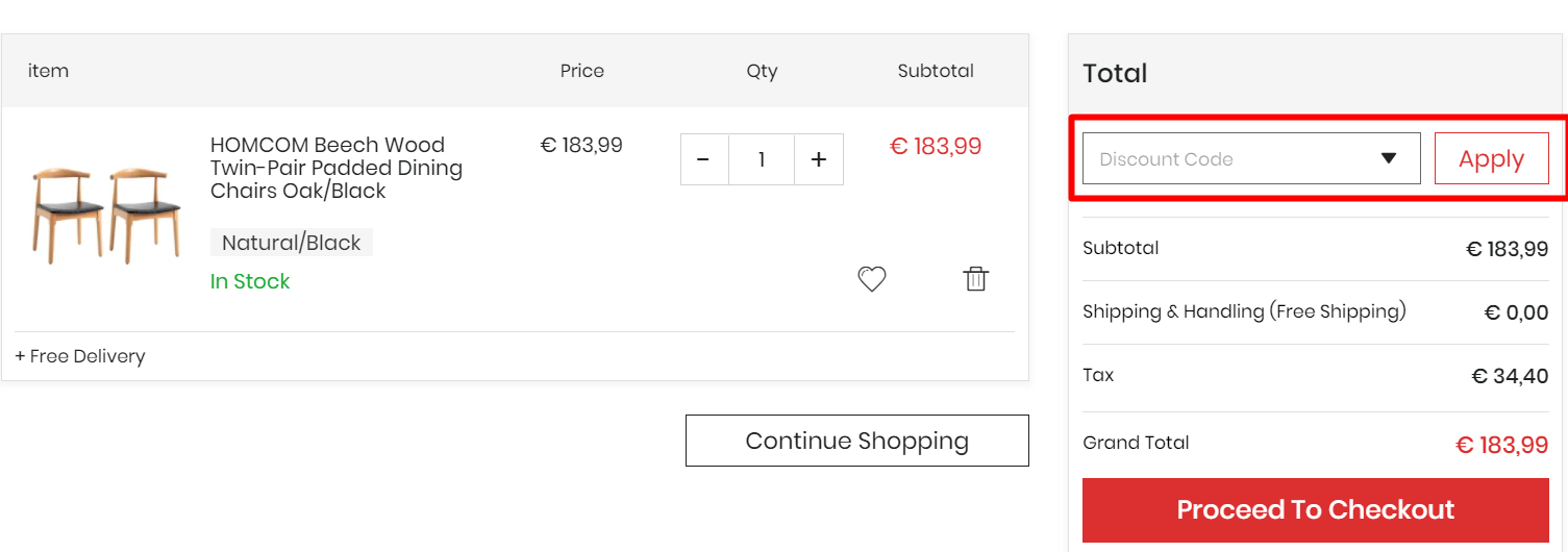 How do I use my Aosom discount code