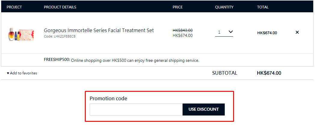 How do I use my L'Occitane promotion code?