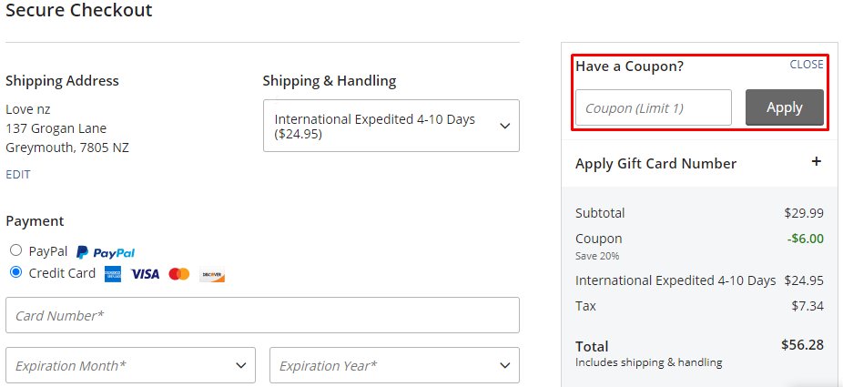How do I use my NBA Store coupon code?