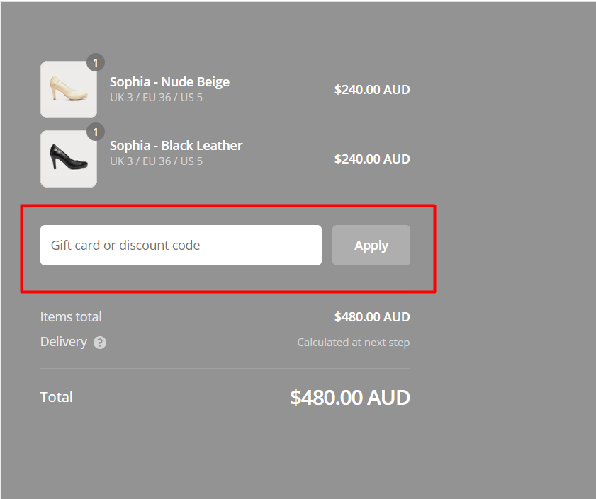 How do I use my Calla Shoes discount code?