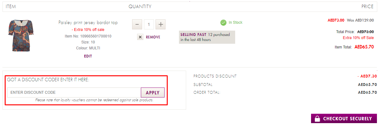 How do I use my M&Co discount code?
