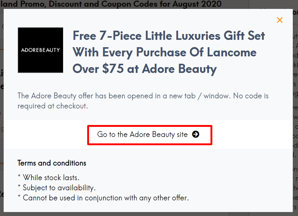 NZ Adore Beauty go to