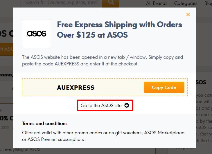 Ga naar de ASOS site