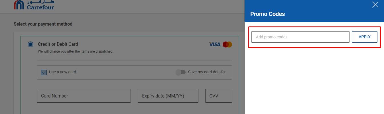How do I use my Carrefour UAE promo code?