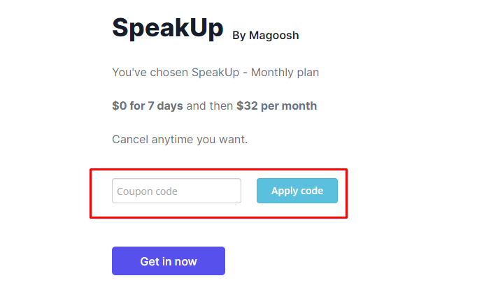 How do I use my Magoosh coupon code?