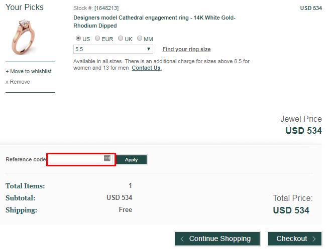 How do I use my Diamond-USA coupon code?