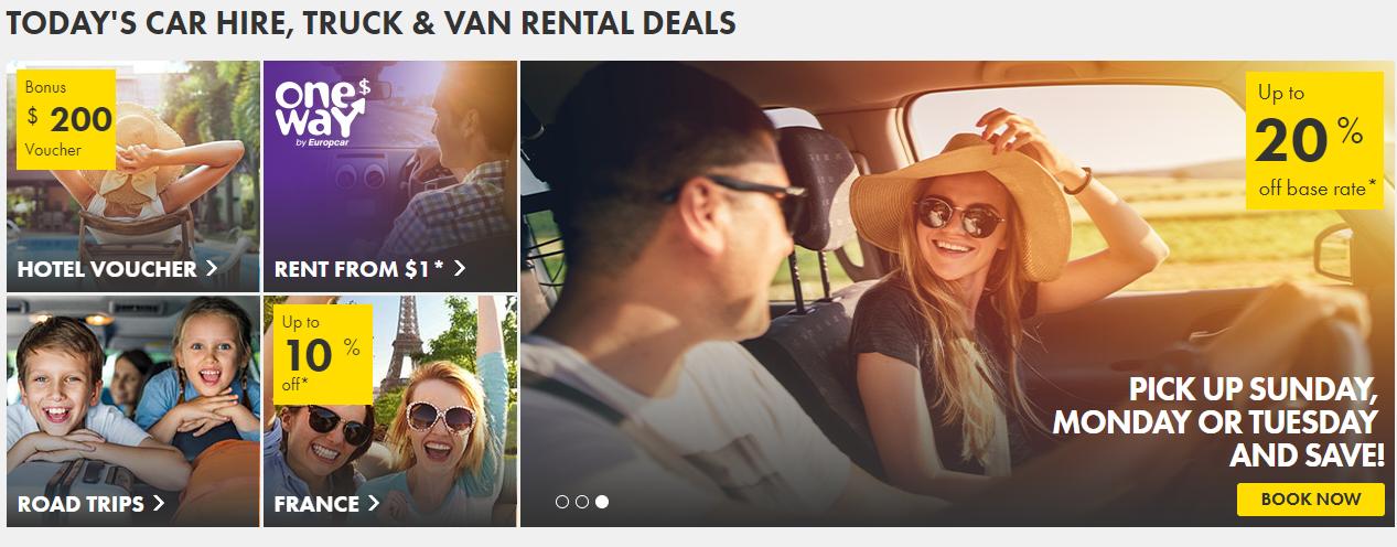 Europcar Homepage