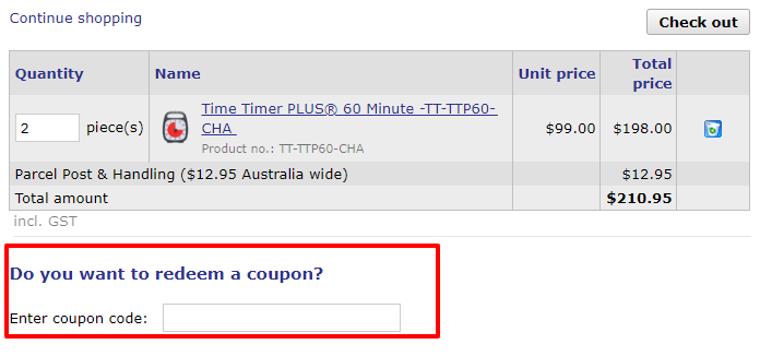 How do I use my TabTimer Reminders discount code?
