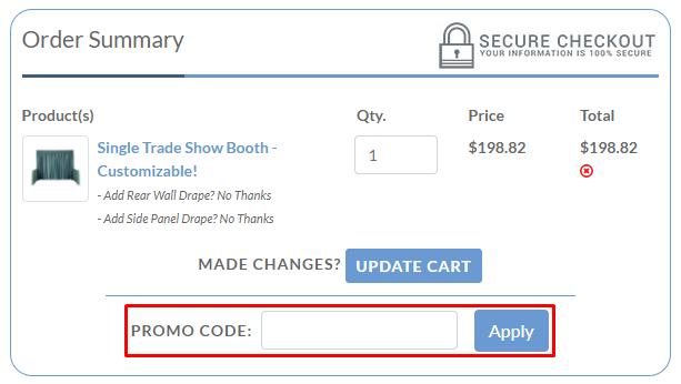 How do I use my Event Decor Direct promo code?