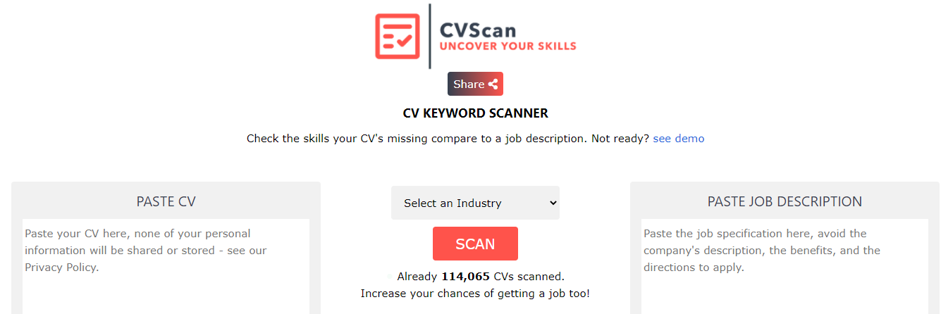 About CVScan Homepage