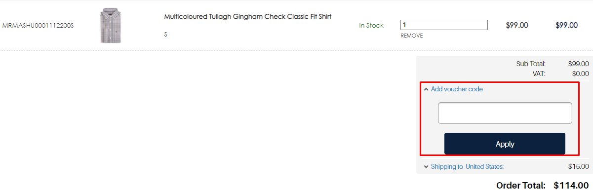 How do I use my Magee 1866 voucher code?