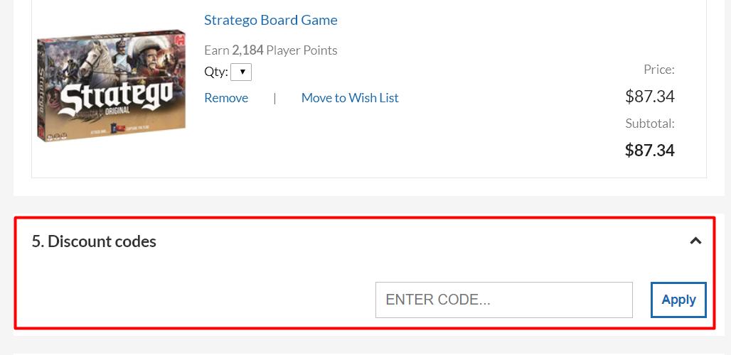 How do I use my OZGameShop discount code?