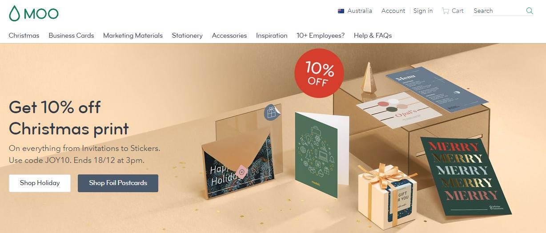 Moo.com Homepage