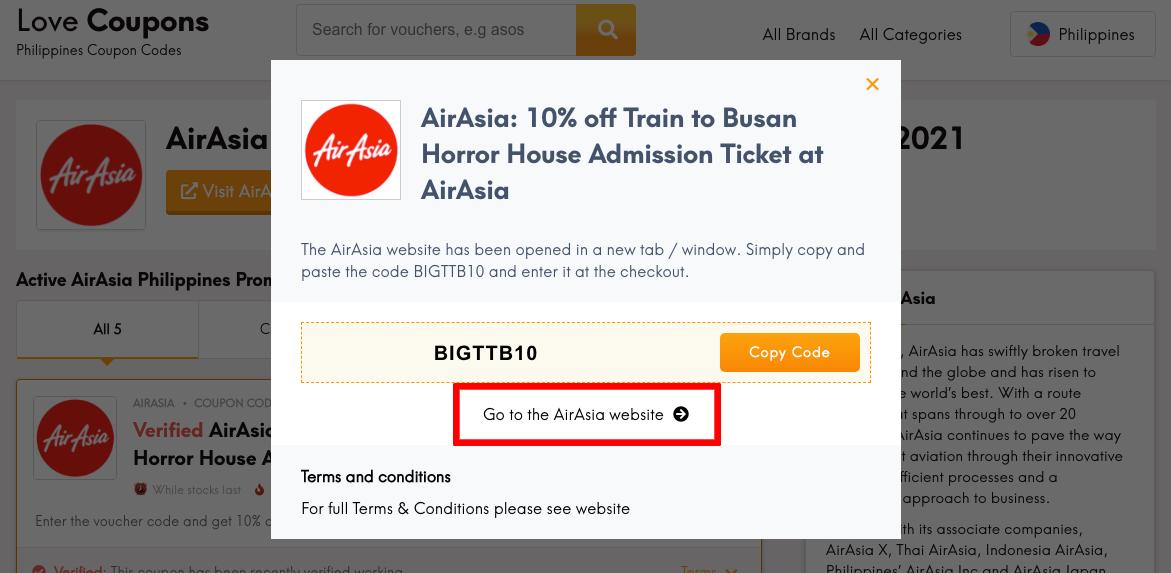 AirAsia PH Get Coupon