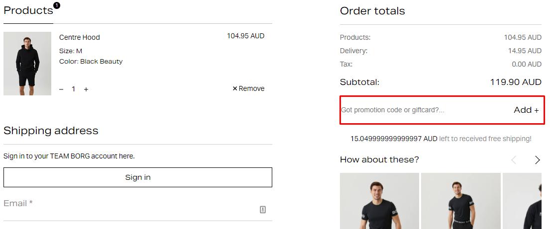 How do I use my Björn Borg promotion code?